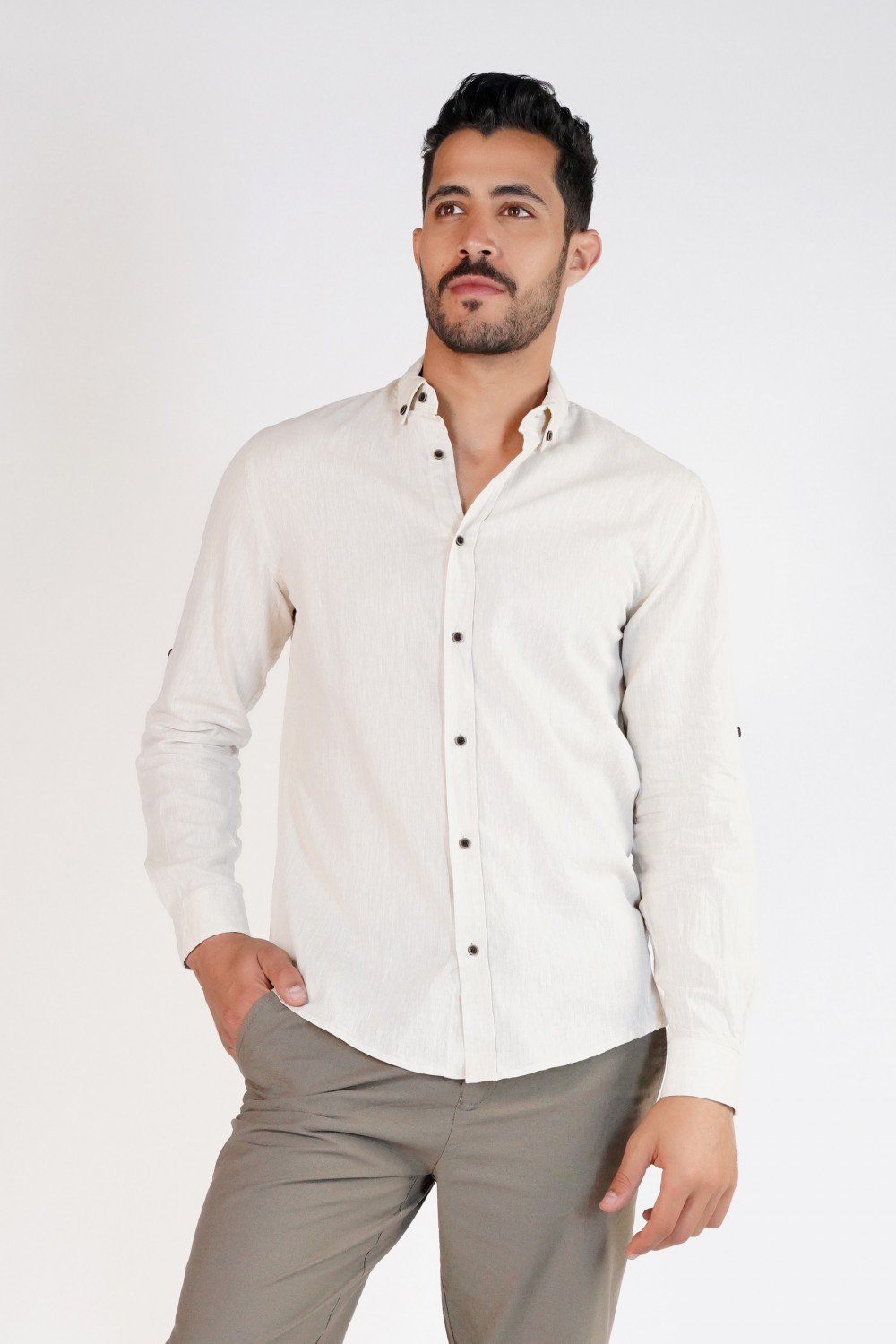 Chemise confort Fit lin homme