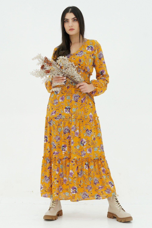 Robe longue fleurie femme