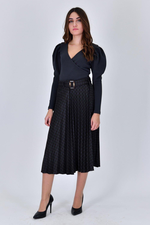 Jupe vintage plissé  avec ceinture