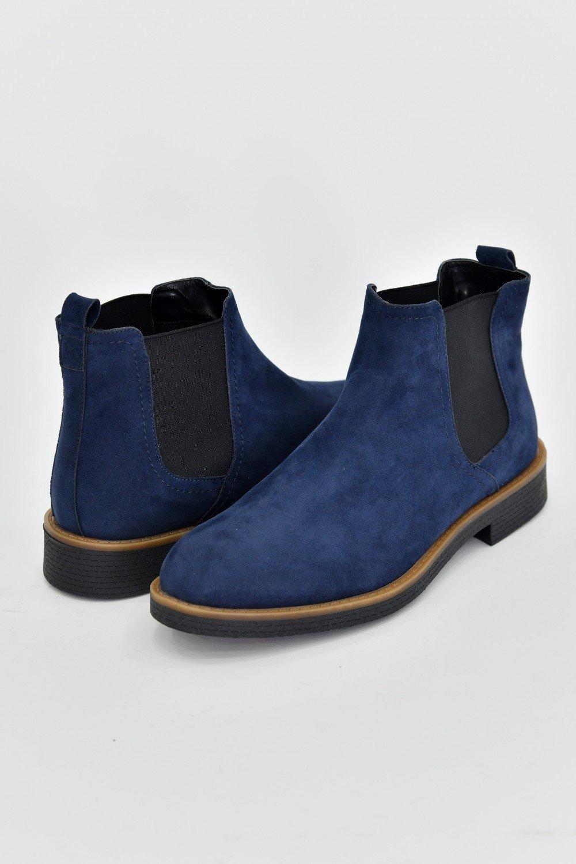 Boots Homme Daim Uni