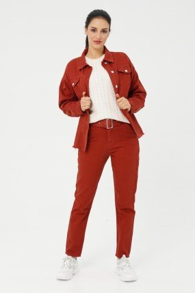 Pantalon femme avec ceinture