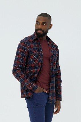 Chemise flanelle carreaux homme
