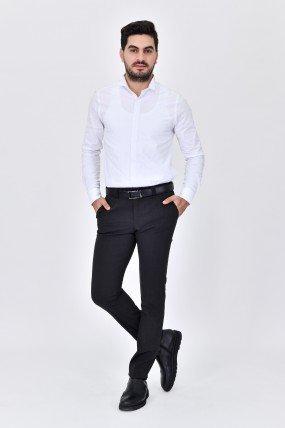 Chemise blanche à col cassé